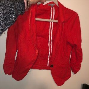 Red blazer